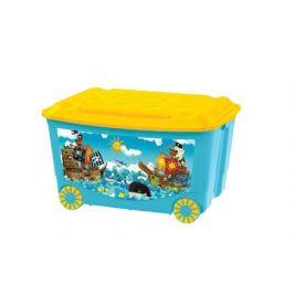 Ящик для игрушек на колесах Пластишка