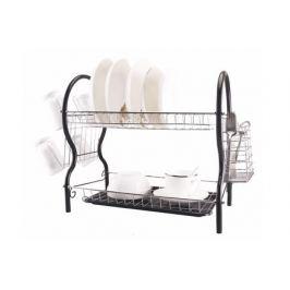 Сушилка для посуды 2-ярусная с поддоном и держателями W04325539
