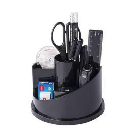 Настольный набор DELI E38250A, Вращающийся настольный набор, пластик, 15 предметов, черный
