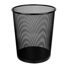 Корзина для бумаг DELI E9189, 16л, мет.сетка, круглая, черный