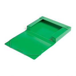 Папка-короб на резинке Бюрократ -BA40/07GRN пластик 0.7мм корешок 40мм A4 зеленый 25 шт./кор.