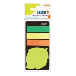 Блок самоклеящийся бумажный Stick`n 21476 44x44мм 20лист. 70г/м2 неон зеленый вырубной