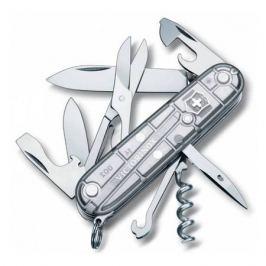 Складной нож VICTORINOX Climber, 14 функций, 91мм, серебристый полупрозрачный