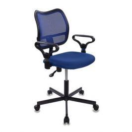 Кресло БЮРОКРАТ CH-799M, на колесиках, ткань, синий [ch-799m/bl/tw-10]