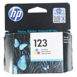 Картридж HP 123, многоцветный [f6v16ae]