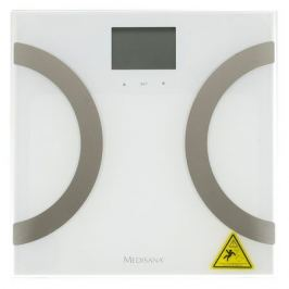 Напольные весы MEDISANA BS 445 Connect, до 180кг, цвет: белый/серебристый [40441]