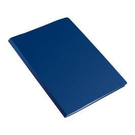 Папка на 2-х кольцах Бюрократ Economy -EC0418/2RBLUE A4 пластик 0.4мм кор.18мм синий 40 шт./кор.