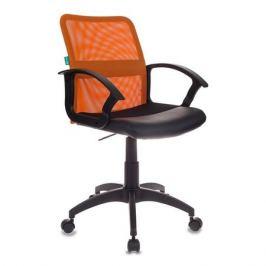 Кресло БЮРОКРАТ CH-590, на колесиках, искусственная кожа, оранжевый [ch-590/or/black]