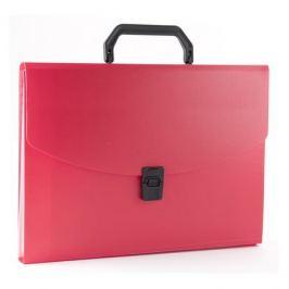 Портфель Бюрократ -BPP13RED 13 отдел. A4 пластик 0.7мм красный 14 шт./кор.