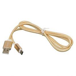 Кабель REDLINE USB Type-C (m), USB A(m), 1м, золотистый [ут000011691]