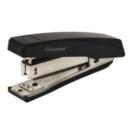 Степлер Silwerhof 401071-01 N10 (15листов) встроенный антистеплер черный пластик коробка 12 шт./кор.