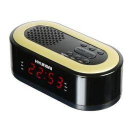 Радиобудильник HYUNDAI H-RCL230, красная подсветка, черный