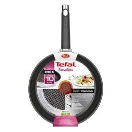 Сковорода TEFAL Emotion E8240425, 24см, без крышки, серебристый [2100102453]