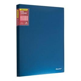 Папка с 30 прозр.вклад. Silwerhof Perlen 292930-74 A4 0.75мм карман синий металлик 5 шт./кор.