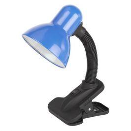 Светильник настольный ЭРА N-102-E27-40W-BU на прищепке, 40Вт, синий [c0041426]