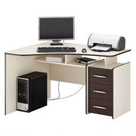Стол компьютерный МАСТЕР Триан-5 левый угол, угловой, ЛДСП, дуб молочный и венге