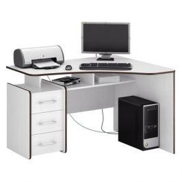 Стол компьютерный МАСТЕР Триан-5 правый, угловой, ЛДСП, белый