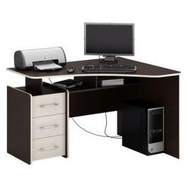 Стол компьютерный МАСТЕР Триан-5 правый, угловой, ЛДСП, венге и дуб молочный