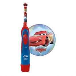 Электрическая зубная щетка ORAL-B Stages Power Cars, цвет: красный