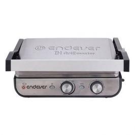 Электрогриль ENDEVER Grillmaster 250, серебристый и черный [80568]