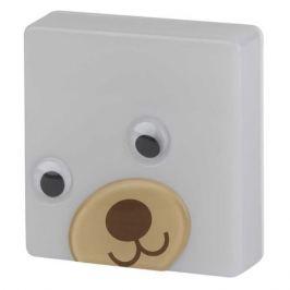 Ночник Эра NN-630-LS-BR Бурый мишка пластик белый