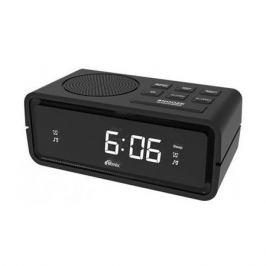 Радиобудильник RITMIX RRC-606, белая подсветка, черный