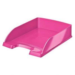 Лоток горизонтальный Esselte 52263023 Leitz WOW A4 255x70x357мм розовый металлик полистирол