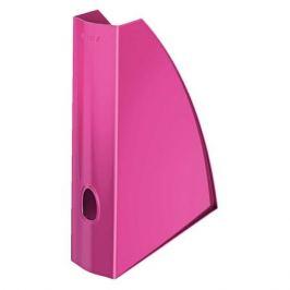 Лоток вертикальный Esselte 52771023 Leitz WOW A4 75x312x258мм розовый металлик полистирол