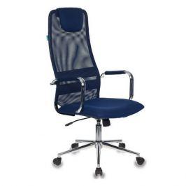 Кресло руководителя БЮРОКРАТ KB-9N/DB/TW-10N, на колесиках, сетка, синий