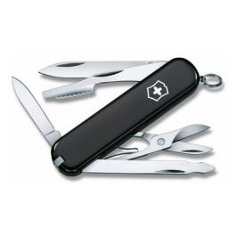 Складной нож VICTORINOX Executive, 10 функций, 74мм, черный