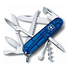 Складной нож VICTORINOX Huntsman, 15 функций, 91мм, синий полупрозрачный