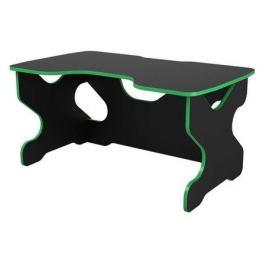Стол игровой ВИТАЛ-ПК Райдер, ЛДСП, черный и зеленый