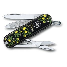 VICTORINOX Classic LE2019 When life gives you Lemons, 7 функций, 58мм, черный / рисунок