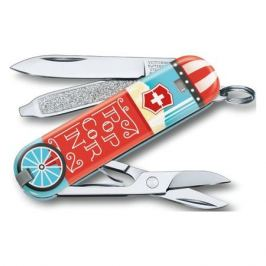 VICTORINOX Classic LE2019 Let it Pop, 7 функций, 58мм, голубой / рисунок