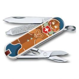 VICTORINOX Classic LE2019 Gingerbread Love, 7 функций, 58мм, синий / рисунок