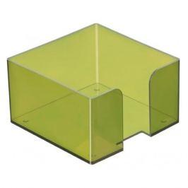 Подставка Стамм ПЛ50 для бумажного блока 90x90x50мм зеленый/тонированный пластик