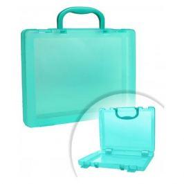 Бокс для документов Стамм КС18 A4 280x375x75мм зеленый/тонированный пластик