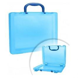 Бокс для документов Стамм КС17 A4 280x375x75мм голубой/тонированный пластик
