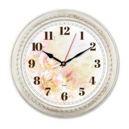 Настенные часы БЮРОКРАТ WallC-R64P, аналоговые, белый