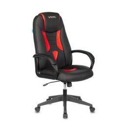 Кресло игровое БЮРОКРАТ VIKING-8N, на колесиках, искусственная кожа, черный/красный [viking-8n/bl-red]