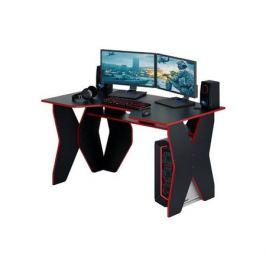 Стол игровой МАСТЕР Форсаж-1, ЛДСП, черный и красный