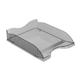 Лоток горизонтальный Стамм ЛТ62 Люкс 70x350x255мм серый/тонированный пластик