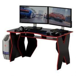 Стол игровой МАСТЕР Таунт-1, ЛДСП, черный и красный