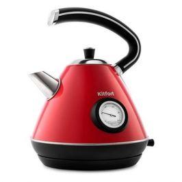 Чайник электрический KITFORT KT-686-1, 2200Вт, красный