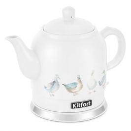Чайник электрический KITFORT КТ-691-2, 1800Вт, белый