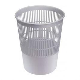 Корзина для бумаг СТАММ 14л, пластик, круглая, серый [кр52]