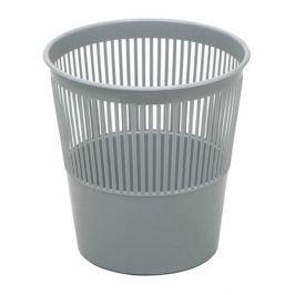 Корзина для бумаг СТАММ 9л, пластик перфорированный, круглая, серый [кр22]