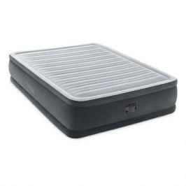 Кровать надувная Intex Comfort-Plush дл.:2030мм ш.:1520мм в.:460мм черный/серый (64414)