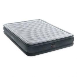 Кровать надувная Intex Comfort-Plush дл.:2030мм ш.:1520мм в.:330мм черный/серый (67770)