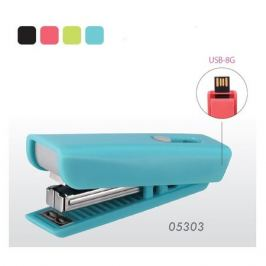 Степлер ручной Kw-Trio 053034 8G USB Twist N10 (10листов) ассорти 50скоб пластик блистер